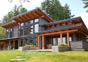 west coast modern cowichan beach custom home