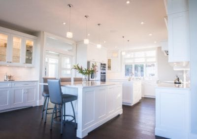 Beautiful large kitchen and breakfast area of goldstream heights custom home