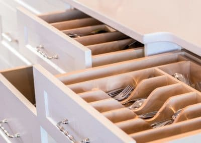 Kitchen drawers with goldstream heights custom inserts and organizers in Cowichan Valley home
