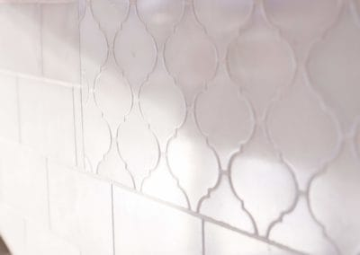 Close up of tile backsplash in Cowichan Valley home