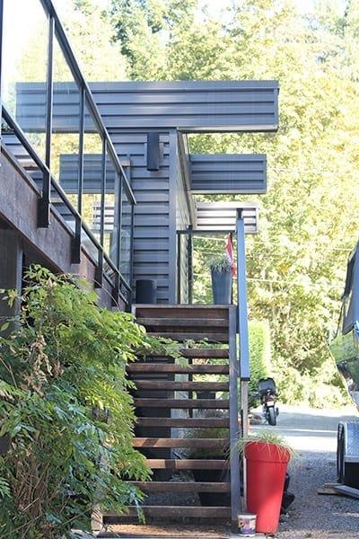 custom exterior staircase modern