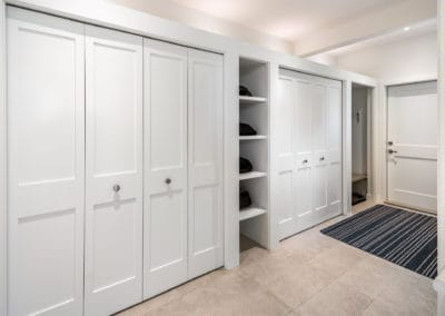 Mudroom with custom built-ins Georgia Park Heights Custom Home