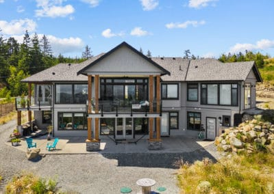 Goldstream Heights Custom Home rear exterior