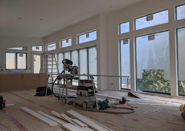 Interior finishing Cowichan Lake home